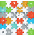 parts of paper puzzles vector image