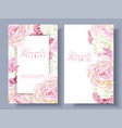 peony pink banners vector image vector image
