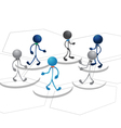 People team diagram design vector image