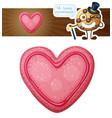 pink valentine day cookie vector image vector image