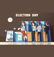 politics election voting cartoon vector image