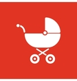 Pram icon Baby buggy design Baby carriage vector image vector image