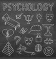 psychology hand drawn doodle set and typography vector image
