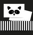 raccoon animal template vector image vector image