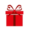Red gift icon Present design graphic vector image vector image