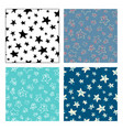 seamless patterns of stars vector image vector image