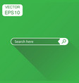 search bar field icon business concept interface vector image