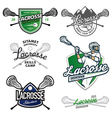 set lacrosse design elements vector image vector image