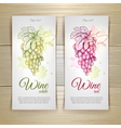 set wine labels grapes sketch vector image