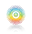sign rainbow sun vector image vector image