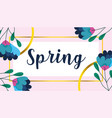 spring sale flowers frame banner decoration vector image