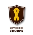 Support our troops vector image vector image