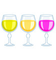 tall wineglass icons vector image vector image