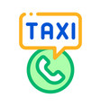 taxi call telephone service online taxi icon vector image
