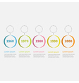 Timeline Infographic colorful hanging circles text vector image vector image