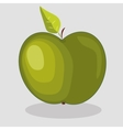 trendy green apple vector image