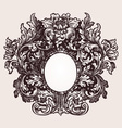Vintage frame element vector image