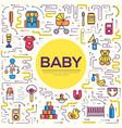 world thin line breastfeeding week and kids vector image vector image