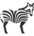 Zebra black silhouette 01 vector image
