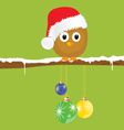 funny animal with christmas balls on the snow vector image