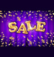 sale origami concept banner template - special vector image