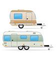 trailer caravan 03 vector image