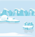 arctic iceberg and mountains in the snow vector image vector image