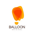 balloon original creative logo for corporate vector image