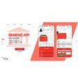 banking online - mobile app ui ux gui vector image vector image