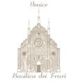 Basilica dei Frari vector image