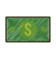 bills money isolated icon vector image vector image