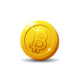 bitcoin sign isolated on white background vector image