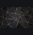 black and gold abstract low poly background vector image