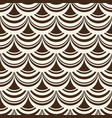 black and white pelmet pattern background vector image