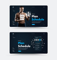 black web page design for day planning vector image