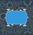 blue vintage seamless pattern background vector image