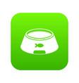 bowl for animal icon digital green vector image