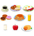 breakfast food icons vector image vector image