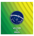 Bright background welcome to Brazil vector image vector image