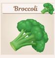 broccoli vegetable icon cartoon vector image vector image