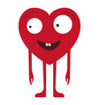 cartoon character heart vector image