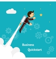 Cartoon Design for Business Growth and Start up vector image
