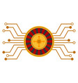 casino roulette circuit flat icon vector image vector image