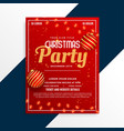 christmas party poster design decorative template vector image vector image