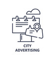 city advertising line icon concept city vector image vector image