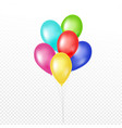 colorful balloon set on white background vector image