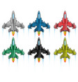 combat aircraft icon flat vector image