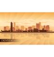 Denver city skyline silhouette background vector image