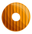 donut biscuit icon cartoon style vector image