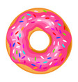 donut icon round sweet colorful pastry doughnut vector image